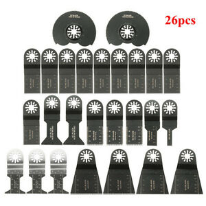 26pcs Oscillating Multi Tool Saw Blade Accessories Kit For Fein Multimaster Bos