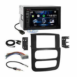 Kenwood Bluetooth Sirius Car Stereo Dash Kit Harness For 02 05 Dodge Ram Truck