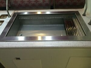 Refrigerated Drop in Stainless Steel Cold Well 22 x40