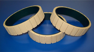 15000076 Grooved Tractor Belt 3 4 Wide For Use W streamfeeder Friction Feeder