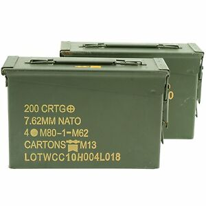 US Military 30 Cal ammo can 2 Pack Grade 1 $36.00
