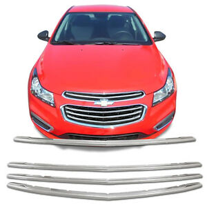 Chrome Grille Overlay Kit 4 Pcs For 2015 Chevy Cruze 2016 Chevy Cruze Limited