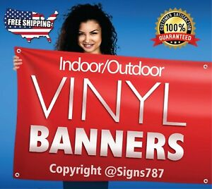 4 X 8 Custom Vinyl Banner 13oz Full Color Free Design Included