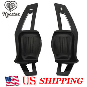 Black Aluminum Paddle Shift Extension Dsg Vw Golf 5 Golf 6 Mk5 Mk6 Gti R32 R R20