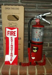 New 2017 buckeye 5 lb Abc Fire Extinguisher With Vehicle Bracket