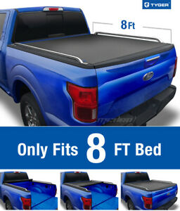 Tyger T2 Roll Up Low Profile Tonneau Cover Fits 2009 2019 Ford F 150 8ft Bed