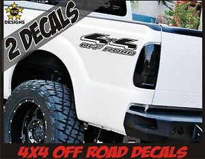 4x4 Truck Bed Decals Matte Black Set For Ford F 150 Super Duty F 250 Ranger