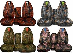 Designcovers Seat Covers 60 40 Hi Back Fit 91 12 Ranger No Console Camo W Skull