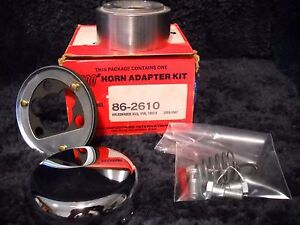 Nos 86 2610 Superior Chrome Steering Wheel Horn Kit Fits 1955 1967 Vw Bus