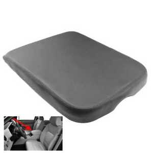 Gray Leather Armrest Center Console Lid Cover For Dodge Ram 2002 2008 Taupe