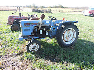 Hinomoto E 180 Diesel Garden Tractor For Rebuilding Or Will Sell Parts