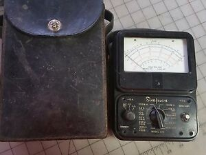 Simpson 260 Analog Volt Ohm Meter With Case No Probes
