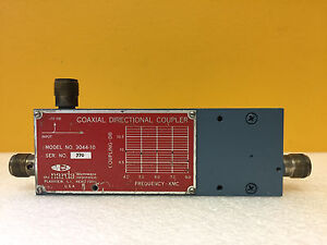Narda 3044 10 4 To 8 Ghz 10 Db Coupling Type N f Coaxial Directional Coupler