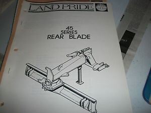 Land Pride Owner s Parts Manual 45 Series Rear Blade