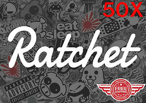 Ratchet 50x Bulk Pack Lot Sticker Decal Wholesale Euro Jdm Kdm Funny Tuner Low