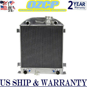 3 Row Aluminum Radiator For 1928 1929 Ford Model A W Flathead Engine