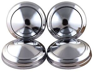 For Mopar Plymouth Dodge Chrysler 9 Dog Dish Hub Caps Poverty Hubcaps