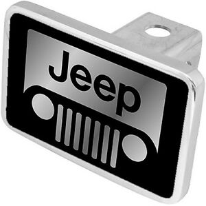 New Jeep Grille Mirrored Logo Tow Hitch Cover Plug