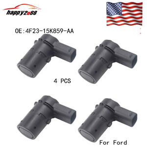4pcs 4f23 15k859 Aa Reverse Bumper Backup Parking Assist Sensor For Ford Escape