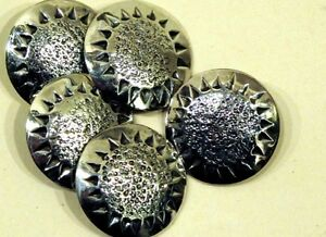 Sterling Silver Chased Buttons