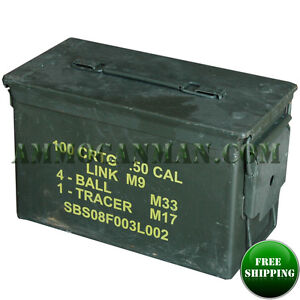 2 CANS Grade 1 50 cal empty ammo cans 2 Total FREE SHIPPING $35.25