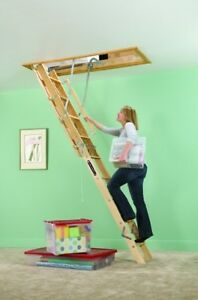 Wooden Attic Ladder Building Supplies Home Tight Spaces Storage Greater Access