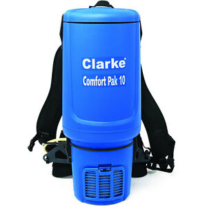 Clarke Comfort Pak 10 Quart Commercial Back Pack Vacuum With Tool Kit