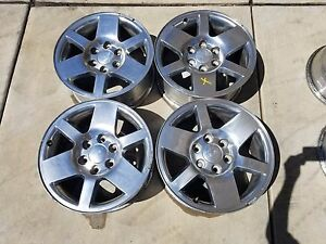 2007 Gmc Sierra 18 Inch Rims In Good Cond Auction Incl 4 Rims 4 Caps