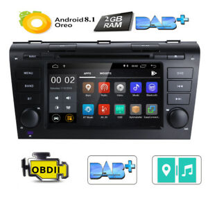 For Mazda 3 2004 2005 2006 2007 2008 2009 Car Dvd Stereo Gps Radio Android 7 1