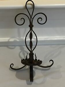 Cast Iron Wall Sconce Candle Stick Holder