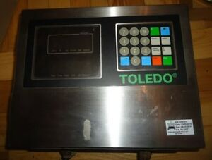 Toledo Scale 8142 Weight Dual Display Operator Panel Key Pad Digital Stainless