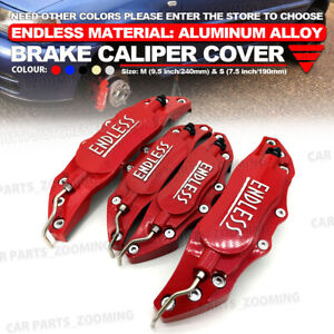 Metal 3d Endless Universal Style Brake Caliper Cover Front And Rear 4pcs Red Wl3