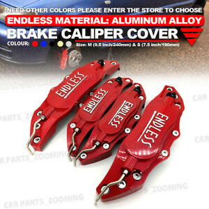 Metal 3d Endless Universal Style Brake Caliper Cover Front And Rear 4pcs Red Wl4