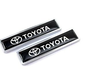 2pcs Toyota Luxury Auto Car Body Fender Metal Emblem Badge Sticker Decal
