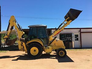 2008 New Holland B95 Tractor Loader Backhoe With Ac heat And 24 Inch Bucket 4wd