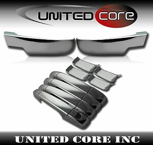 Chevy Tahoe Suburban Chrome Bottom Lower Mirror Cover Door Handle Cover 07 13