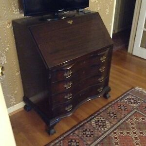 Antique Monitor Secretary Desk With Drop Leaf And Drawers Lovely Original Cond