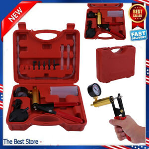 2 In 1 Hand Held Car Motorcycles Brake Bleeder Vacuum Pump Test Tuner Tool Kit