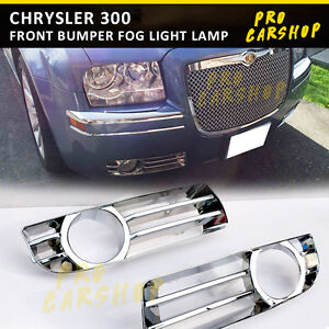 Chrome Trim Chrysler 300 Front Bumper Fog Light Lamp Cover 2005 2010