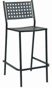 New Black Iron Barstool Commercial Stackable Restaurant Furniture Aof 04 bs
