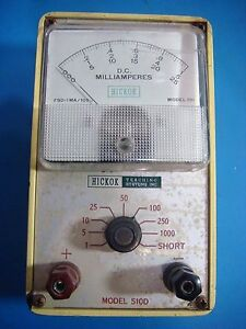 Hickok Teaching Systems Model 510 510d Milliameter Used