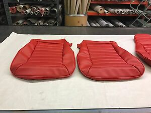 New Porsche 911 77 85 Front Seat Upholstery Standard Kit Can Can Red