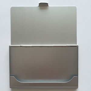 Top Fashion Business Name Pocket Credit Id Business Card Holder Box Metal Case