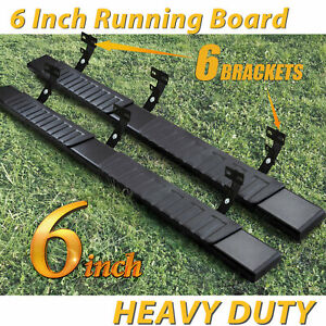 For 09 18 Dodge Ram 1500 Crew Cab 6 Running Board Nerf Bar Side Step Black