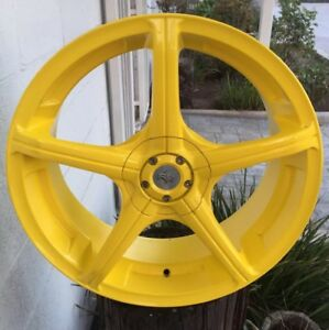 Racing Hart Evolution Z5000 18 X7 5 Et42 Pcd 4 114 3 5 114 3 Yellow 4 Wheels