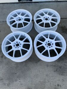 Racing Hart Evo Cp10 18 X 7 5 Et 42 4 100 White Set Of 4 Wheels Jdm Included Cap