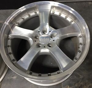 Lorinser Lm5 2 Piece 20 X 11 Et 38 5 112 Silver Used One Wheel Only Made Germ