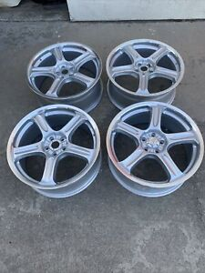 Racing Hart Evolution Gt5 18 X7 5 Et 42 5 100 Silver Jdm Set Of 4 Wheels