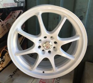 Racing Hart Cp8 18 X 7 5 Et 42 4 114 3 White Set Of 4 Wheels Made In Japan