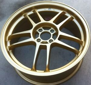 Racing Hart Evolution Cp 35 18 X 7 5 Et 42 4 100 Gold 3 Wheels Only